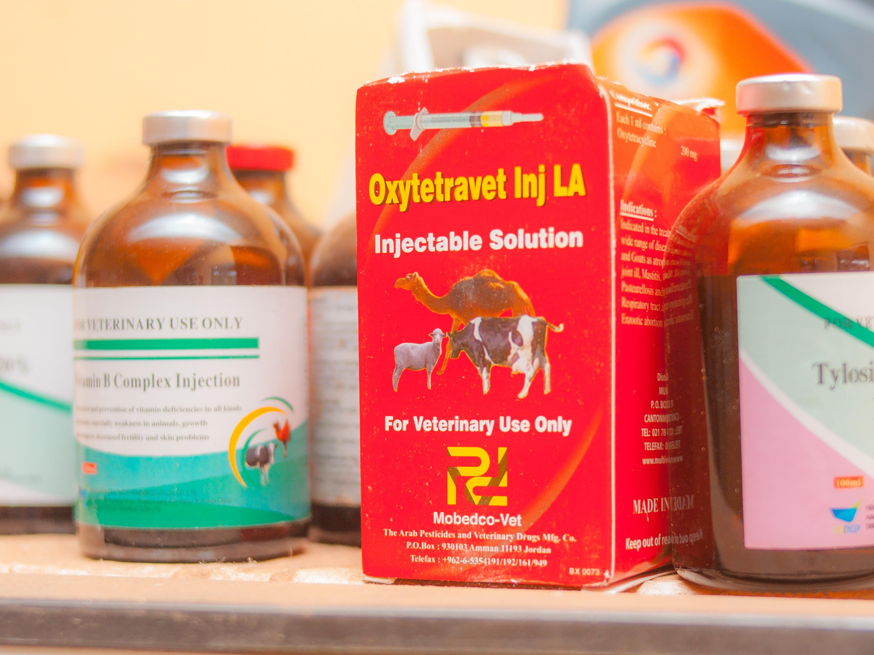 Veterinary medicines on a shelf in Ghana. The new global database of Veterinary Medicines Regulators will help industry connect more effectively with regulators in low-and middle-income countries. Photo credit: Selasie Apeadu on Unsplash.