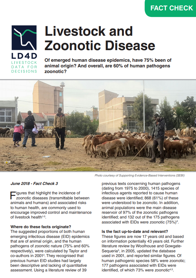 Livestock and Zoonotic Disease Fact Sheet
